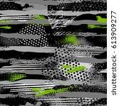 abstract dark seamless grunge... | Shutterstock .eps vector #613909277