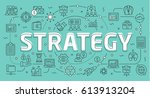 linear flat illustration for... | Shutterstock .eps vector #613913204