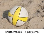 volleyball in the sand court - stock photo