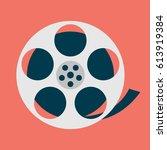 movie reel creative design....   Shutterstock .eps vector #613919384