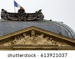 beautiful architecture in paris ... | Shutterstock . vector #613921037
