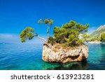 brela rock near punta rata...   Shutterstock . vector #613923281