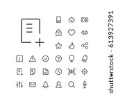 document add icon in set on the ... | Shutterstock .eps vector #613927391