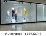 mannequins with dress in... | Shutterstock . vector #613932749