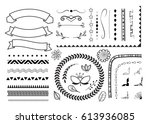 set of decorative elements for... | Shutterstock .eps vector #613936085