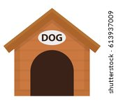 doghouse icon  flat  cartoon... | Shutterstock .eps vector #613937009