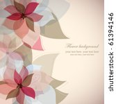 vector flower background | Shutterstock .eps vector #61394146