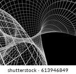 3d rendering geometric wire... | Shutterstock . vector #613946849