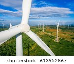 wind turbine from aerial view   ... | Shutterstock . vector #613952867