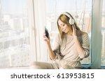 Pretty Blond Woman Listening...