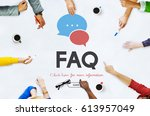frequently asked questions... | Shutterstock . vector #613957049