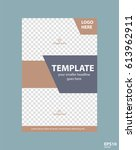 flyer concept brochure template ... | Shutterstock .eps vector #613962911