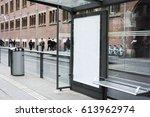 bus stop billboard | Shutterstock . vector #613962974