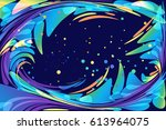 abstract fairy dark backdrop ... | Shutterstock .eps vector #613964075