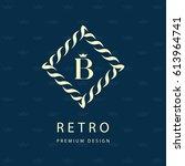 modern logo design. geometric... | Shutterstock .eps vector #613964741