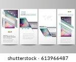 flyers set  modern banners.... | Shutterstock .eps vector #613966487