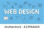 linear flat illustration for... | Shutterstock . vector #613966664