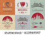 set of baseball labels  logos ... | Shutterstock .eps vector #613969547