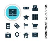 vector illustration of 12 web...
