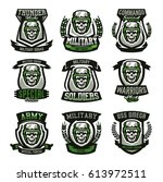 set of military logos  emblems. ... | Shutterstock .eps vector #613972511