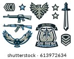 set of military and military... | Shutterstock .eps vector #613972634