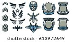 set of military and military... | Shutterstock .eps vector #613972649