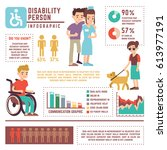 disabled and retirement person... | Shutterstock .eps vector #613977191