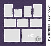 postage stamps with perforated... | Shutterstock .eps vector #613977209