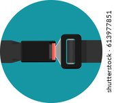 safety black belt isolated on... | Shutterstock .eps vector #613977851