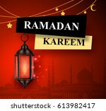 Ramadan Kareem Greeting Vector...