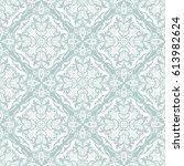 damask vector classic pattern.... | Shutterstock .eps vector #613982624