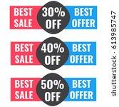 30   40   50  off. vector... | Shutterstock .eps vector #613985747