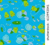 seamless pattern with cute...   Shutterstock .eps vector #613992041