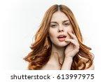 portrait woman beauty  | Shutterstock . vector #613997975