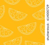 seamless pattern. orange... | Shutterstock .eps vector #614000729