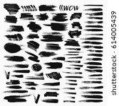 grunge hand drawn brush stroke... | Shutterstock .eps vector #614005439
