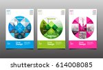 poster   flyer template  circle ... | Shutterstock .eps vector #614008085