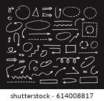 handcrafted elements. hand... | Shutterstock .eps vector #614008817