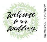 trendy hand lettering poster.... | Shutterstock .eps vector #614020799