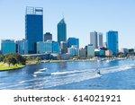 april 2  2017  scenic skyline... | Shutterstock . vector #614021921