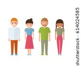 set of style young people. in... | Shutterstock .eps vector #614024585
