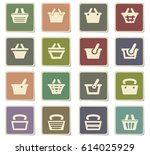 basket vector icons for user... | Shutterstock .eps vector #614025929