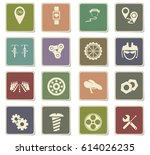 bicycle vector icons for user... | Shutterstock .eps vector #614026235