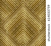 gold striped geometric seamless ... | Shutterstock .eps vector #614033759