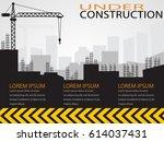 construction infographics... | Shutterstock .eps vector #614037431