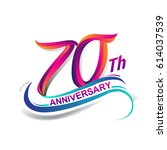 70th anniversary celebration... | Shutterstock .eps vector #614037539