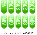 set of popular ribbons with... | Shutterstock .eps vector #614038199