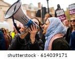 london  uk. 1st april 2017.... | Shutterstock . vector #614039171