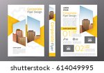 business brochure or flyer...   Shutterstock .eps vector #614049995