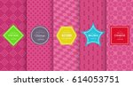 chic seamless pattern... | Shutterstock .eps vector #614053751